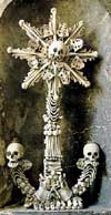 A Cross at the Sedlec Ossuary