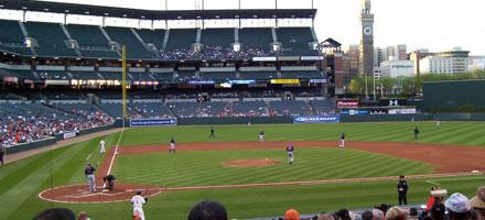 Camden Yards, Orioles versus Indians