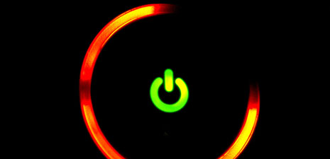 Close-up of Xbox 360 Red Ring of Death